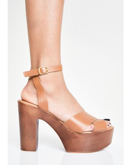 Hazel Top Timber Platform Heels