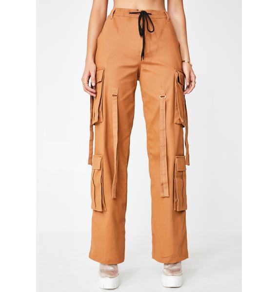Tan Total Magnetism Cargo Pants