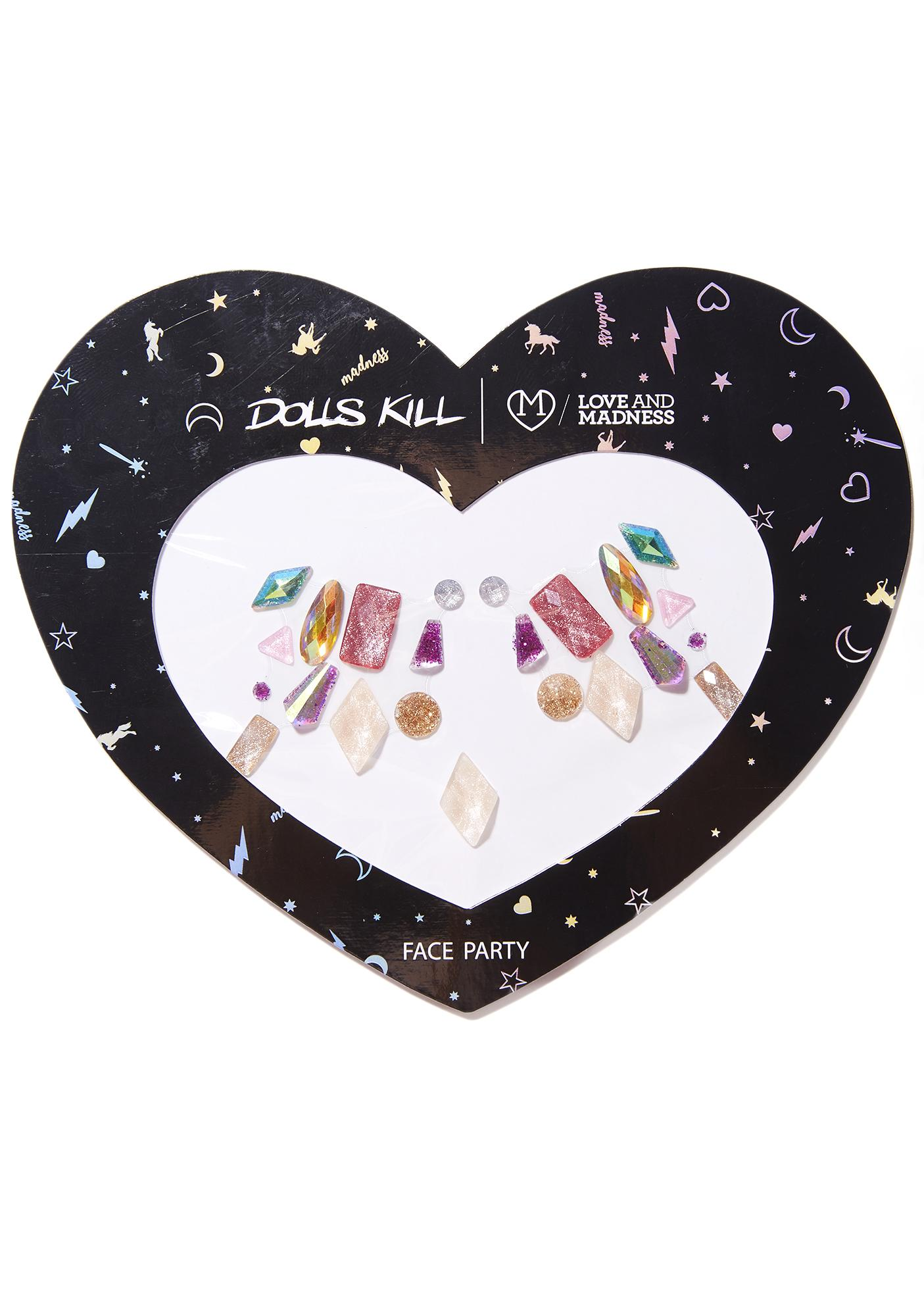 Love And Madness Mermaid Stick-On Gems