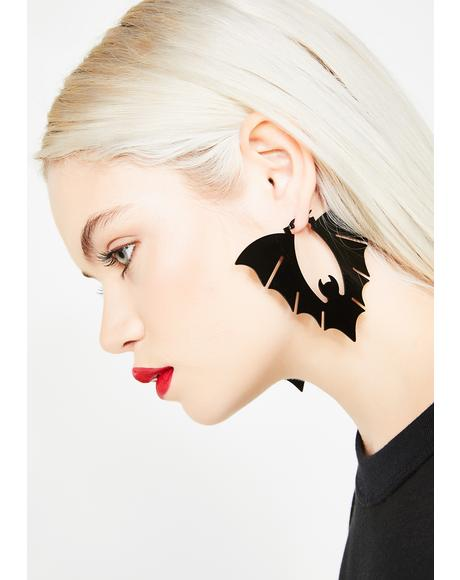 Blood Sucker Bat Earrings