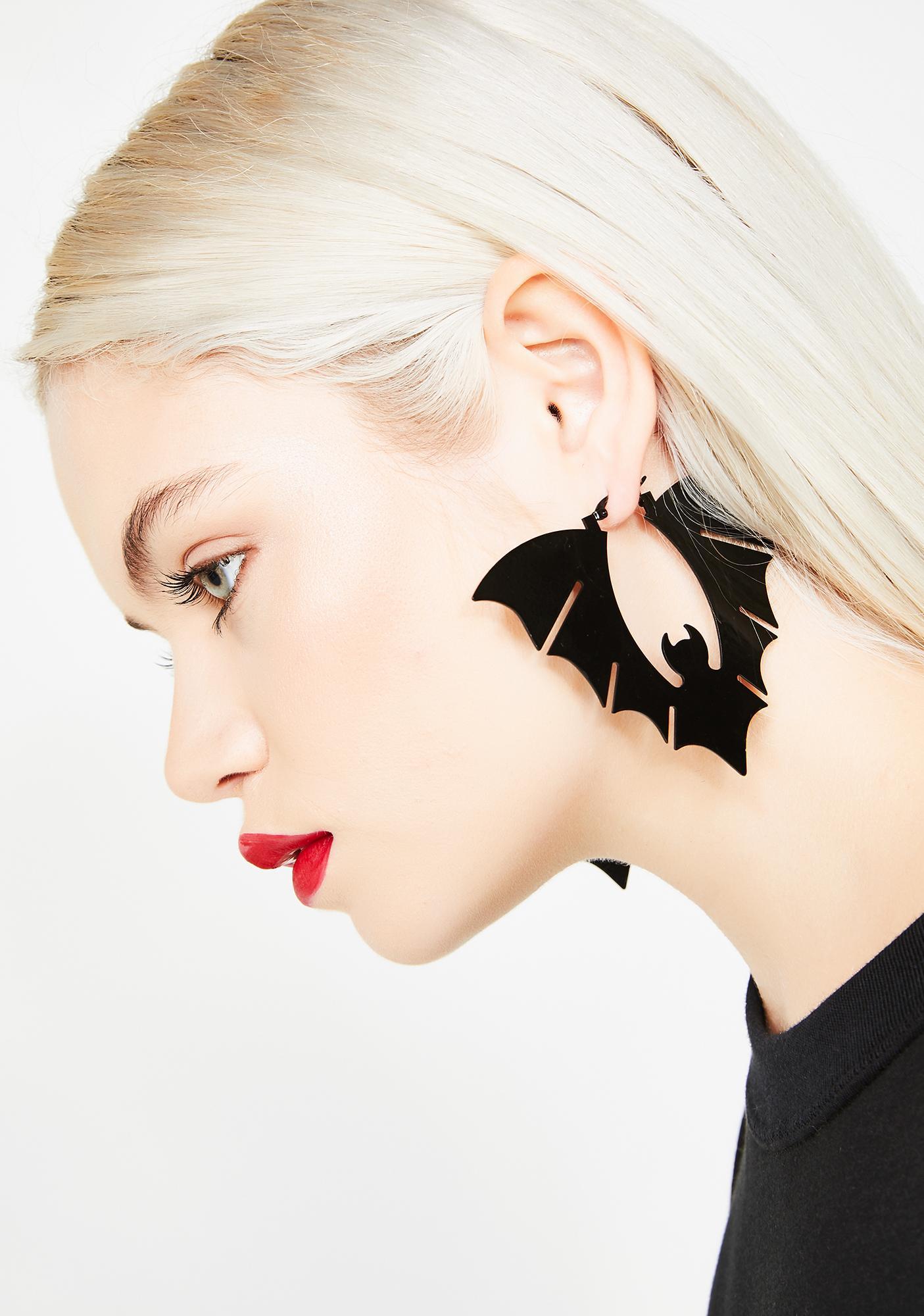 Blood Er Bat Earrings