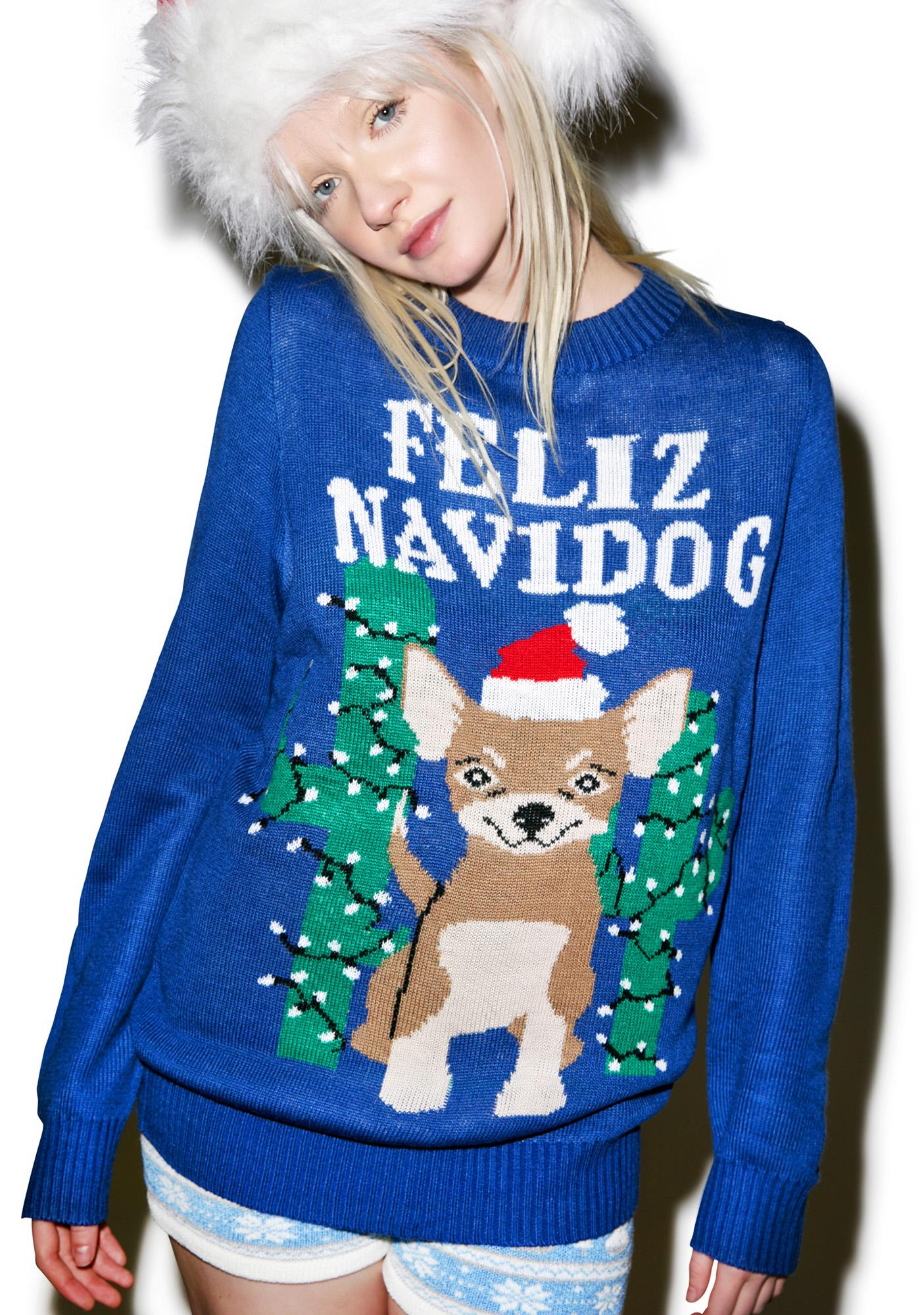 Tipsy Elves Feliz Navidog Sweater