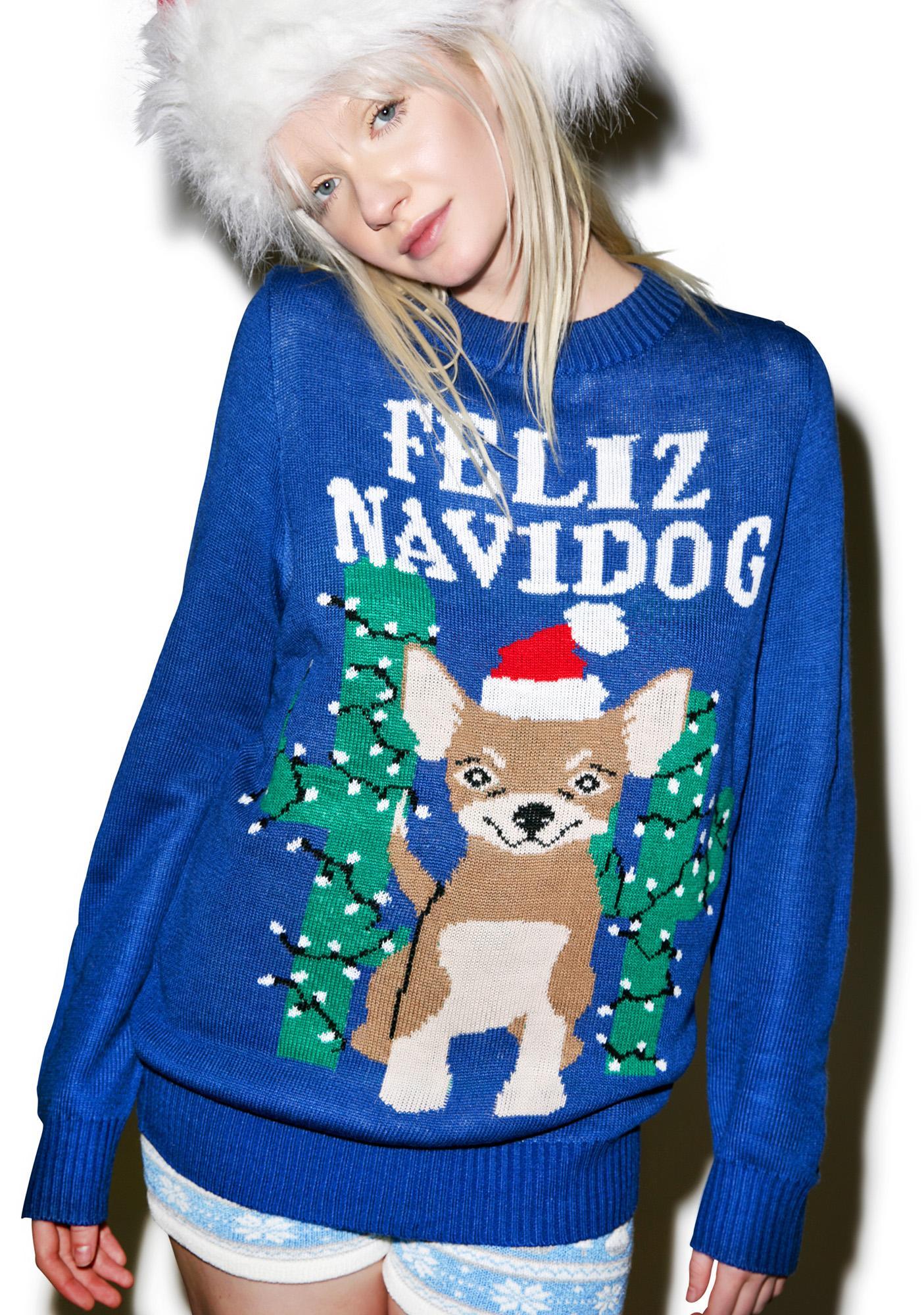 Tipsy Elves Feliz Navidog Sweater
