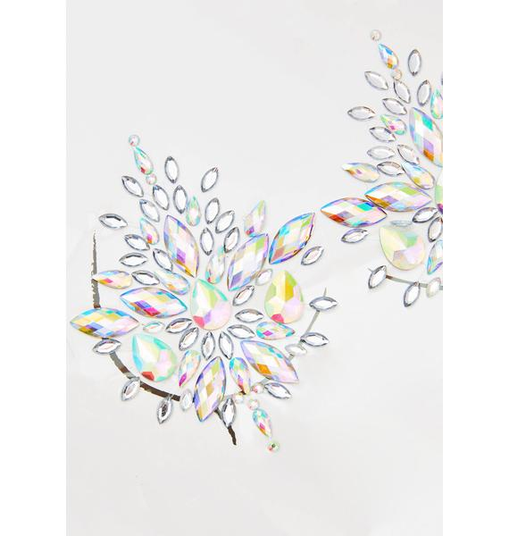 Neva Nude Frozen Crystal Jewel Nipztix Pasties