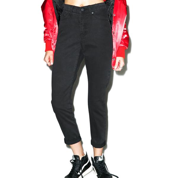 Cheap Monday Donna Mom Jean in Black