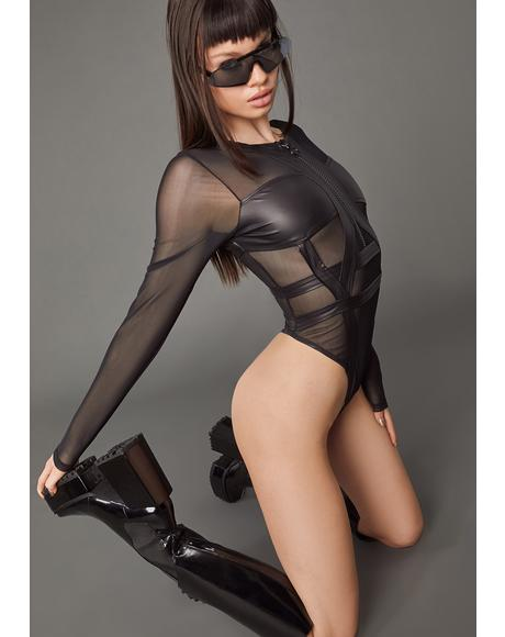 Pay Attention Mesh Bodysuit
