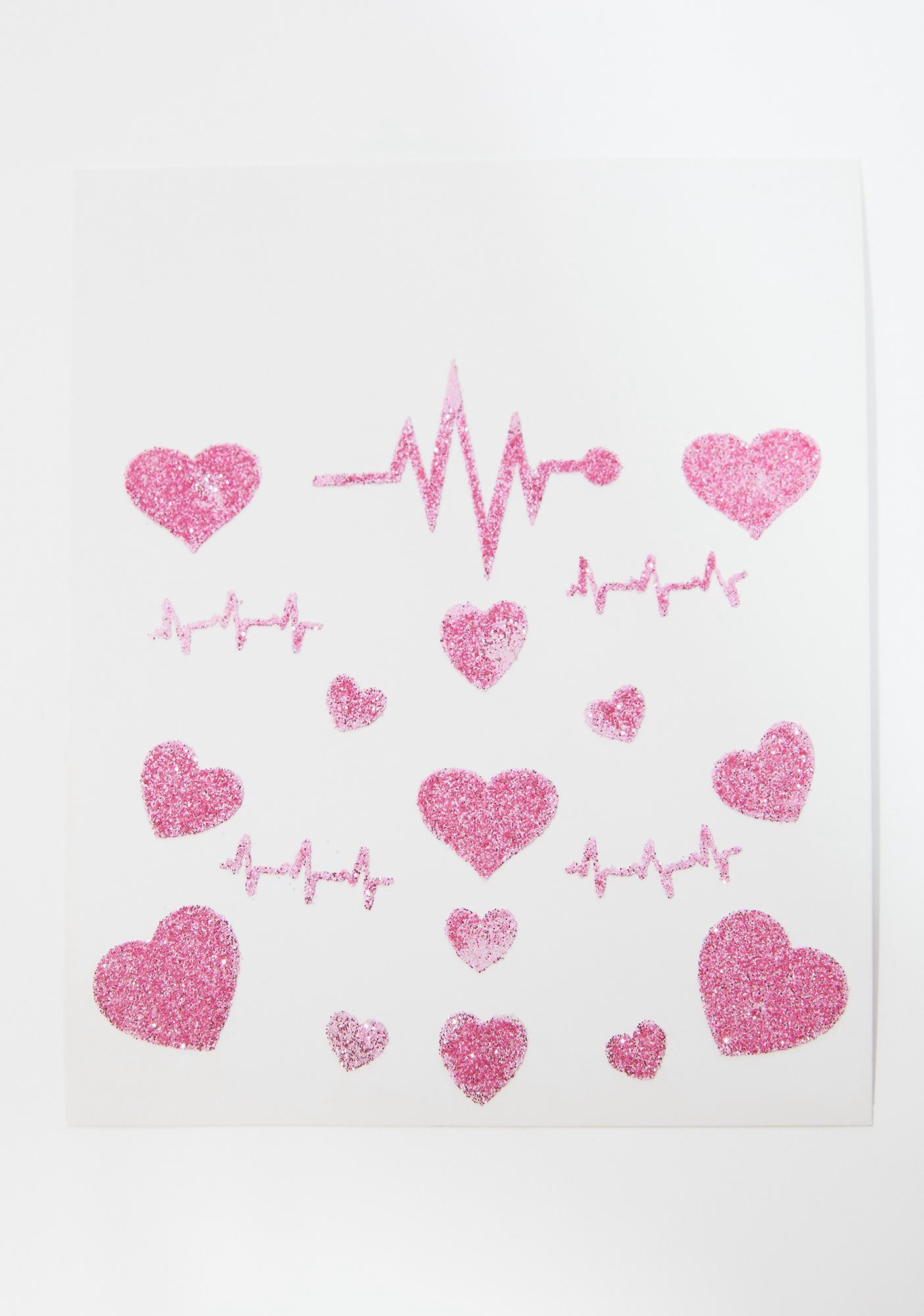 Heart Beat Racer Face Stickers