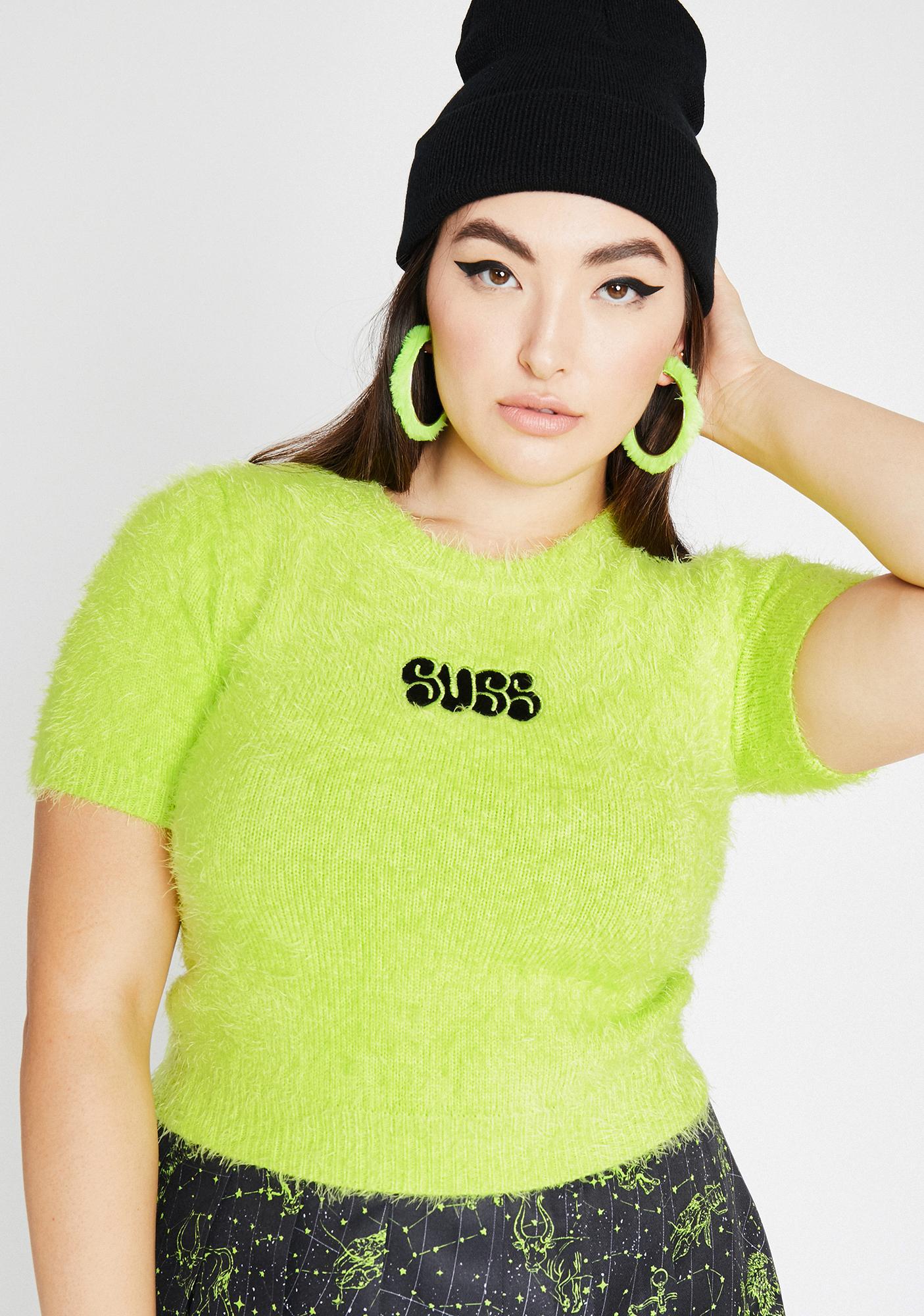HOROSCOPEZ Sis Don't Be SUSS Fuzzy Sweater