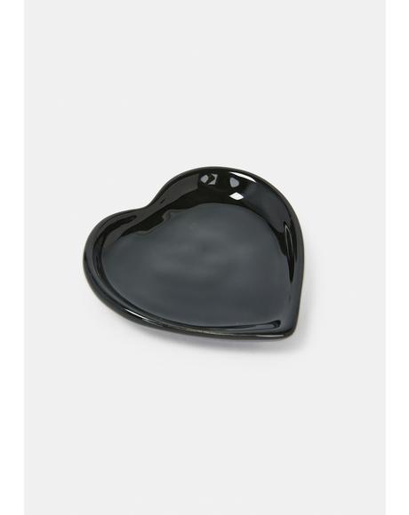 Noir Heart Plate