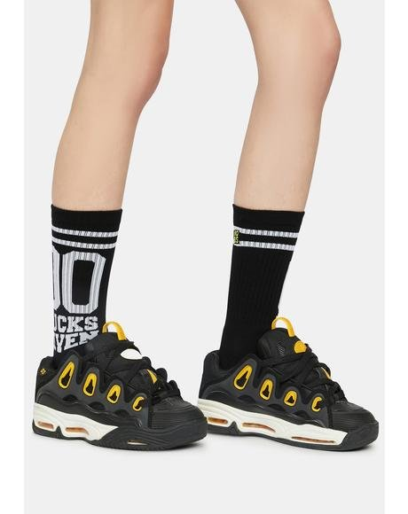 00 Fucks Given Crew Socks