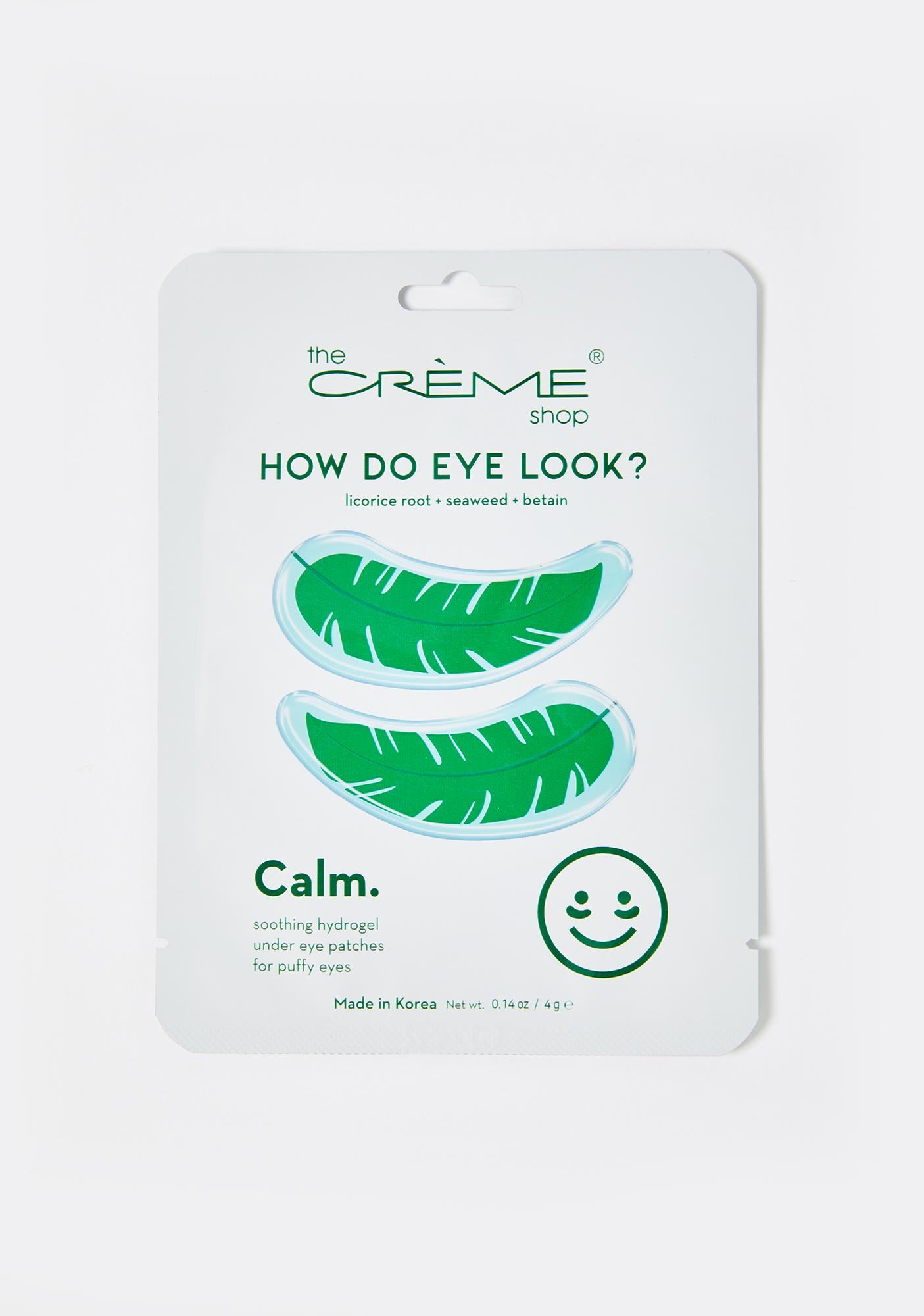 The Crème Shop How Do Eye Look Calm Eye Masks