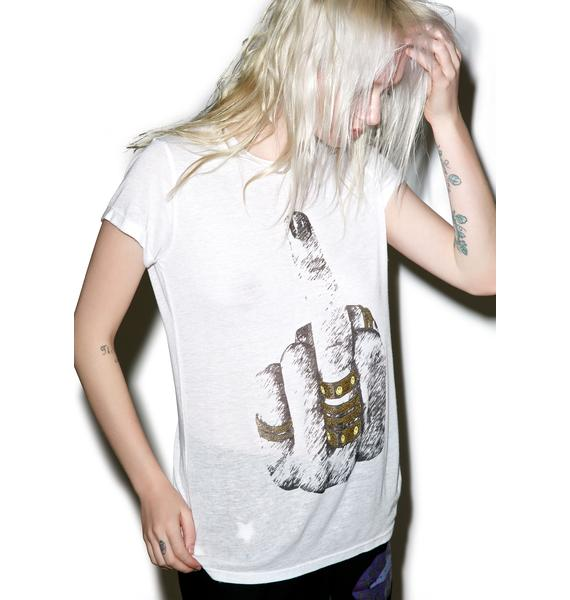 Lauren Moshi Edda Vintage Roll Up Tee