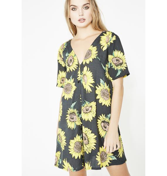 Motel Sunflower Crosena Dress