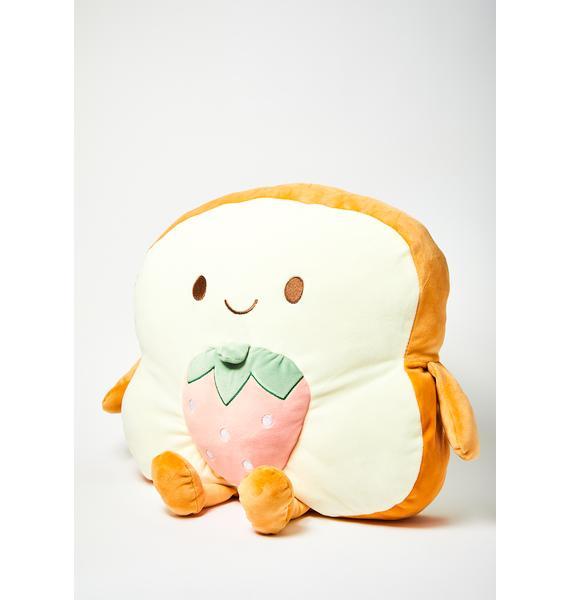 Strawberry Jammin' Toast Stuffed Pillow