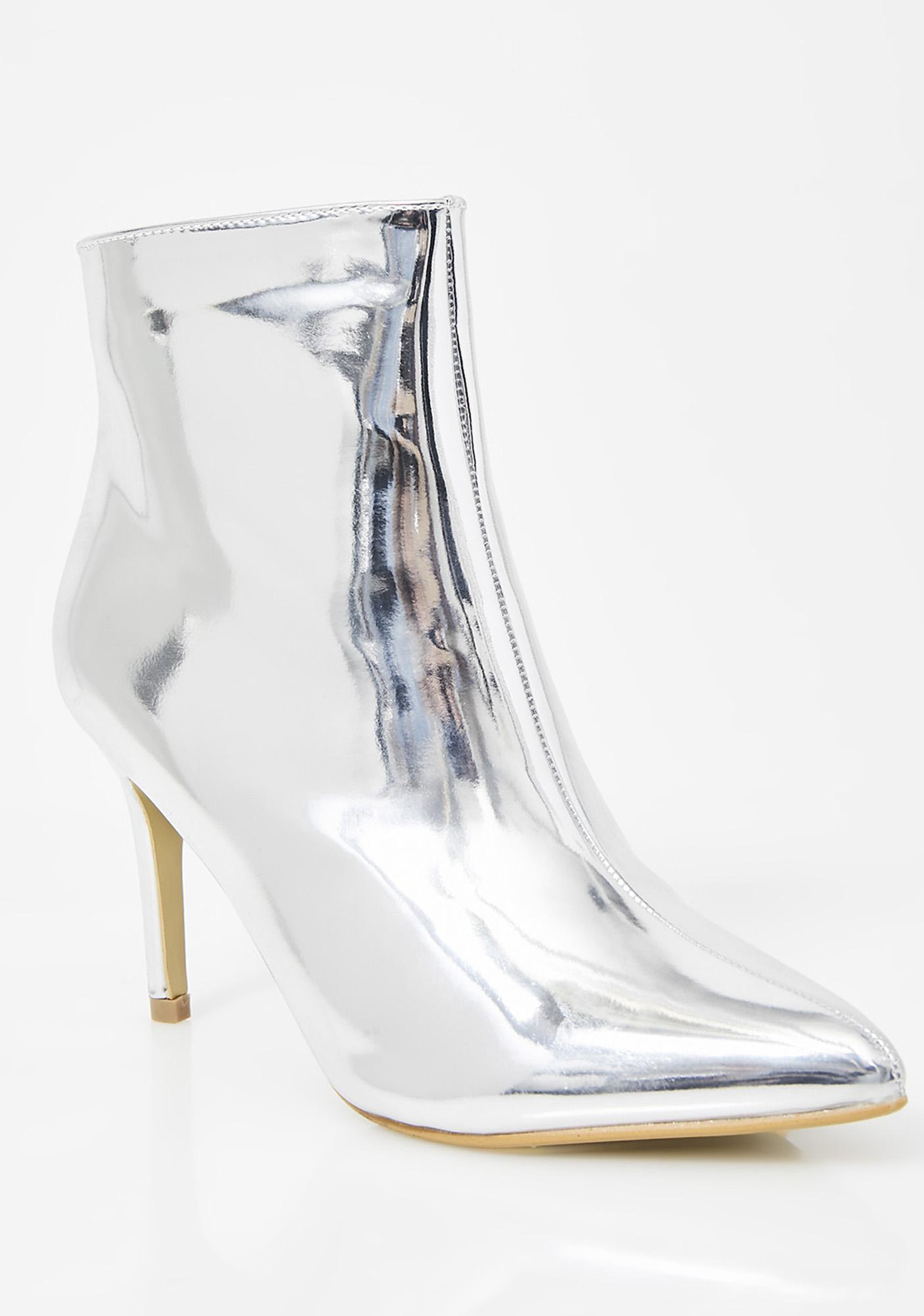 Platinum Smooth Talker Patent Booties