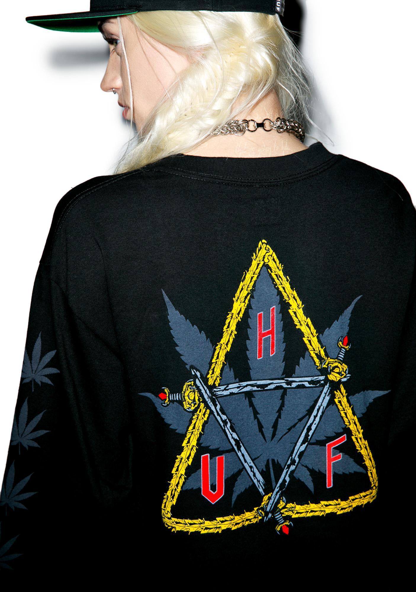 HUF Swords Triple Triangle Long Sleeve T-Shirt