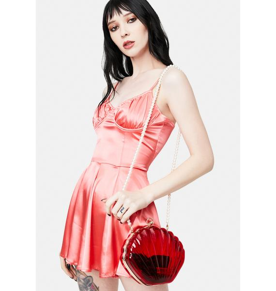 Sea The Day Shell Pearl Strap Bag