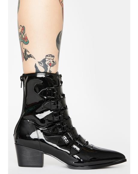 Patent Coven Boots