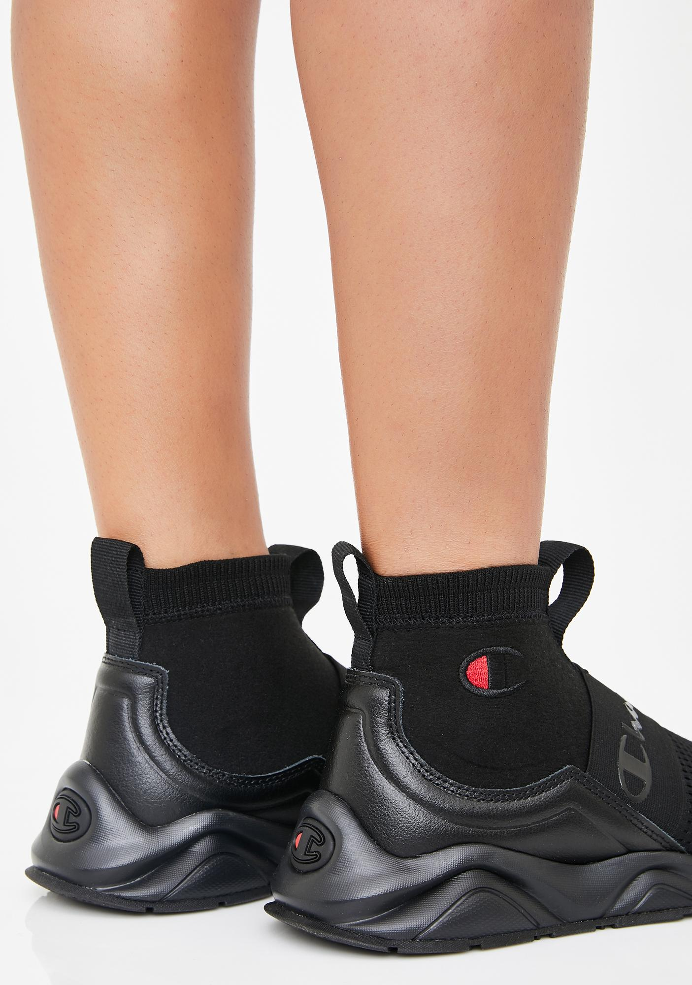 Champion Black Rally Pro Sock Sneakers