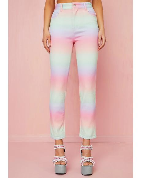 Sherbet Delight Mom Jeans