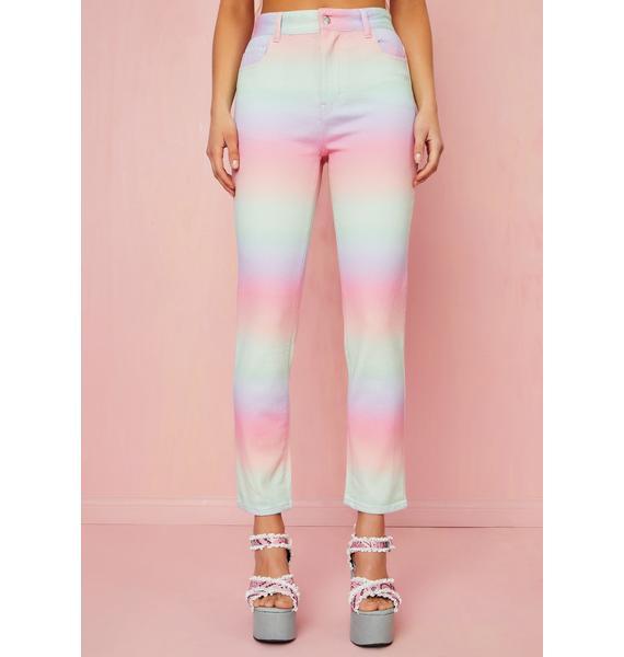Sugar Thrillz Sherbet Delight Mom Jeans