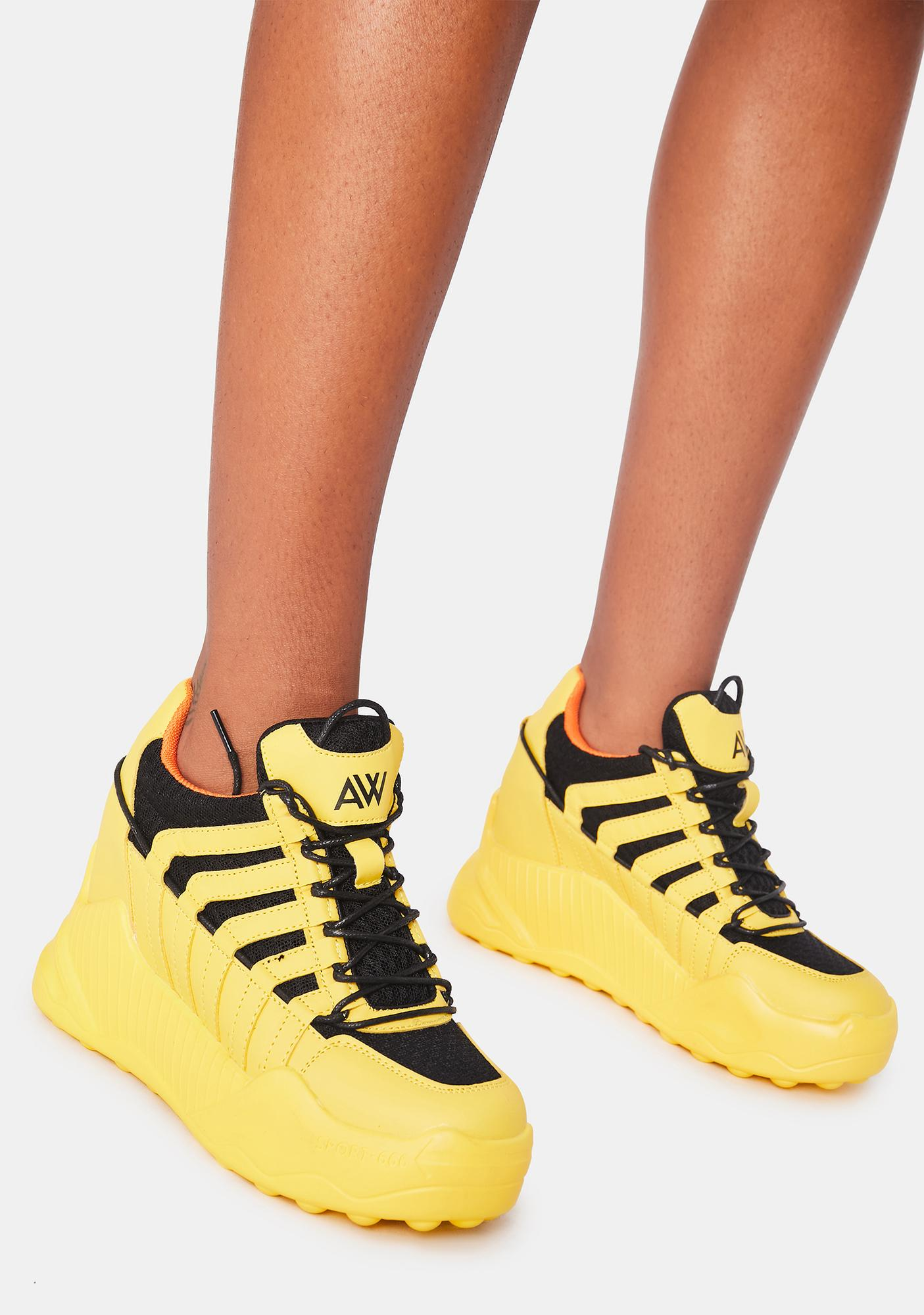 Anthony Wang Yellow Durian Platform Sneakers