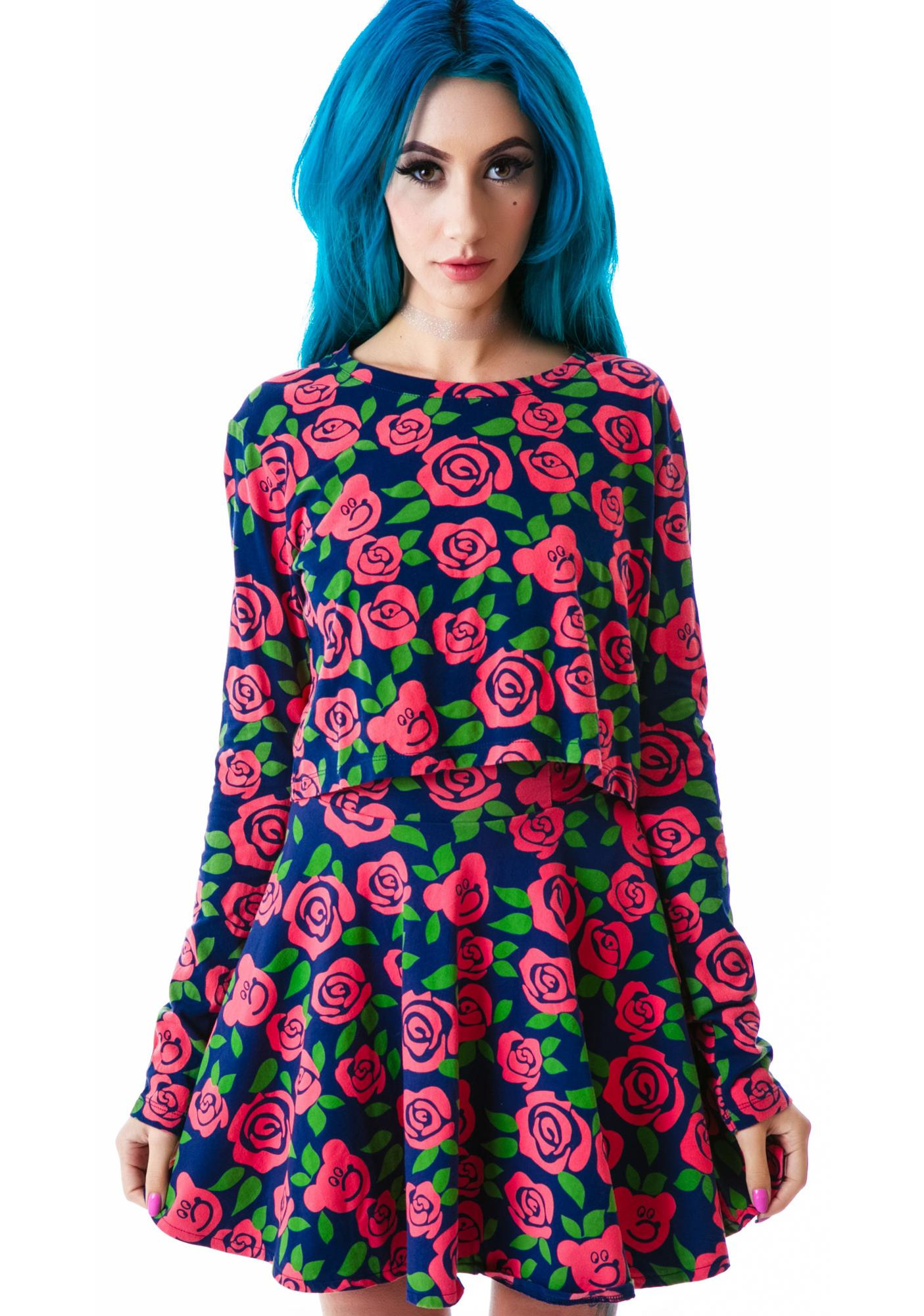 Lazy Oaf Dead Head Skirt