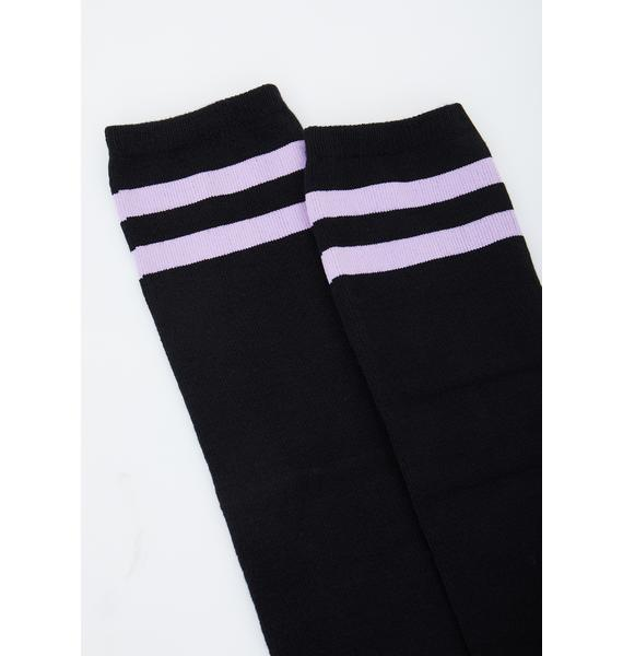 Kitty Chaos Knee High Socks