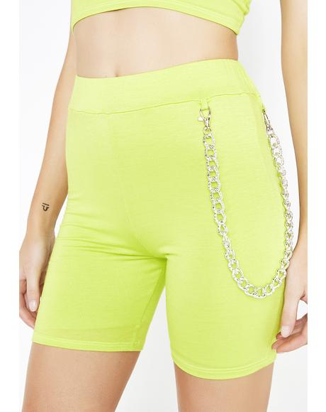 Caution Chain Bike Shorts