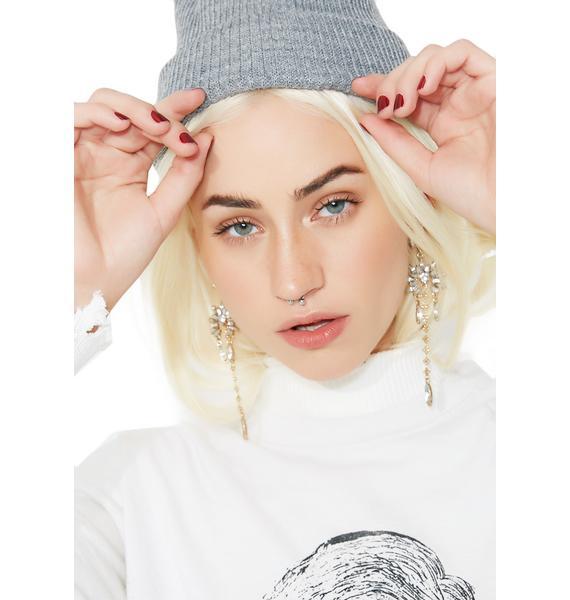 Golden Gurl Rhinestone Earrings