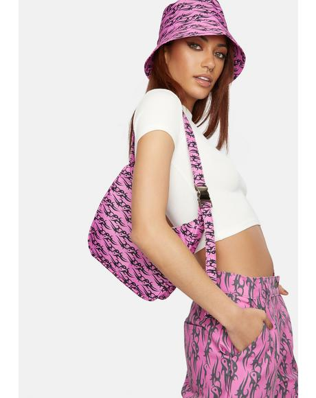 Pink Tattoo Love Shoulder Bag