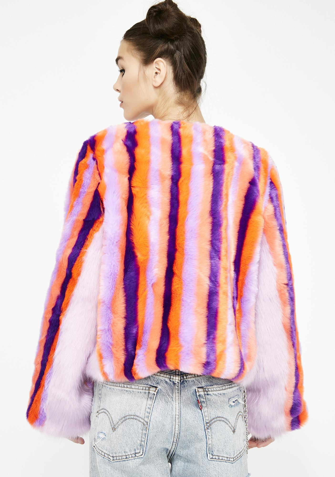 Rave Ready Fuzzy Coat