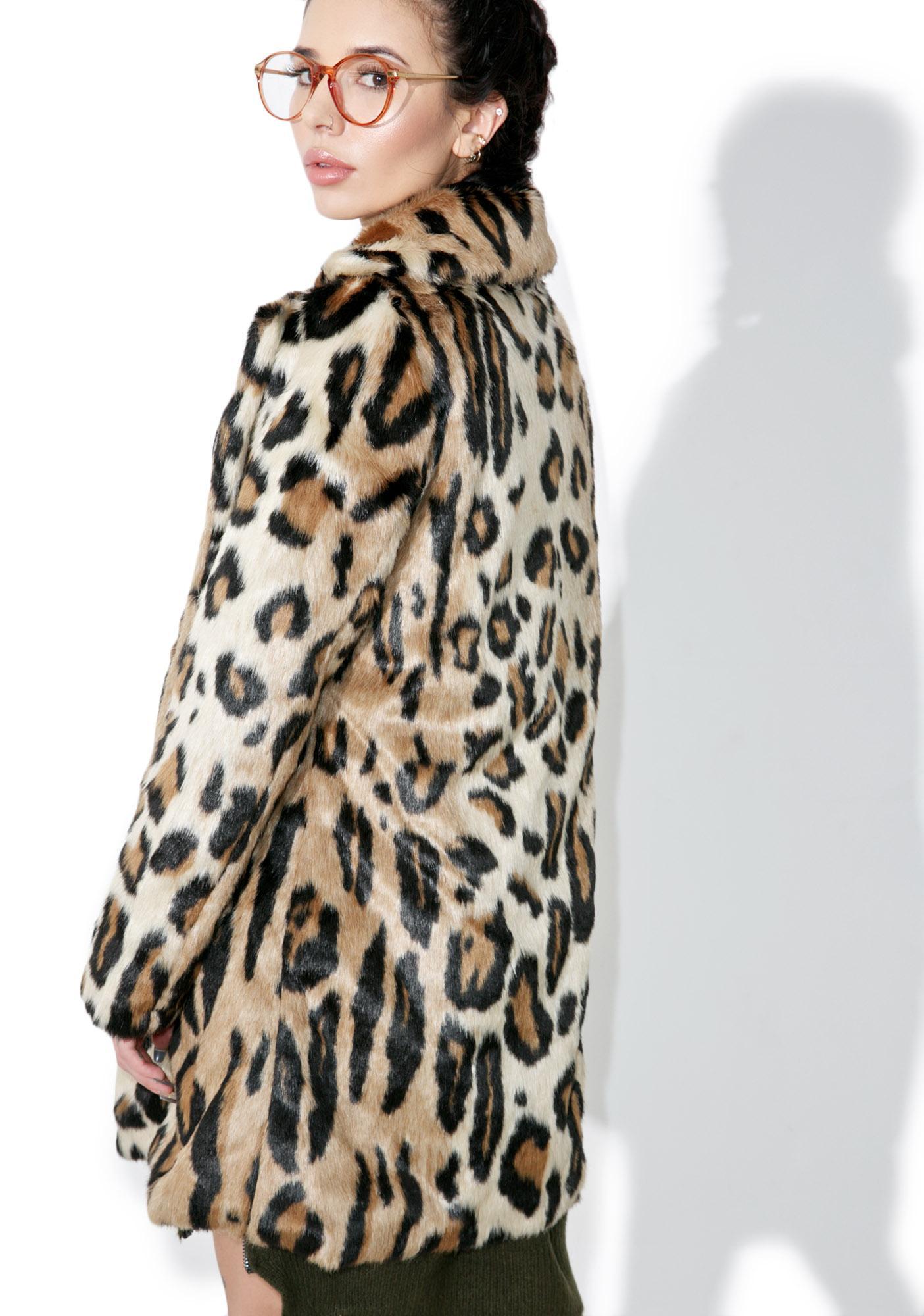 Glamorous Purrfect Leopard Coat