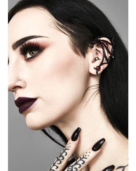 Nocti-Dame Stud Ear Wrap
