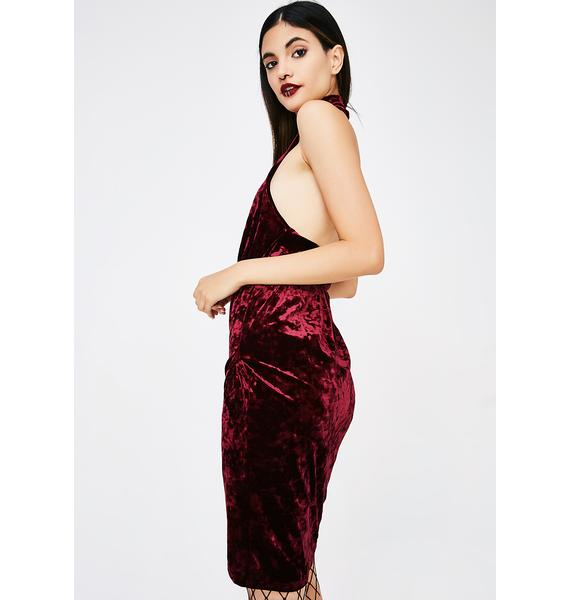 Down To Mars Velvet Dress