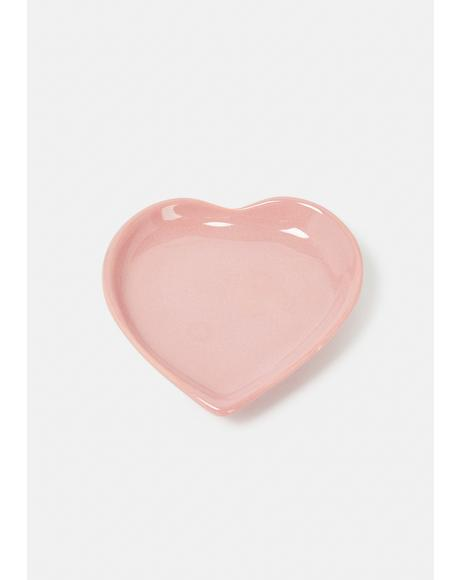 Orchid Heart Plate