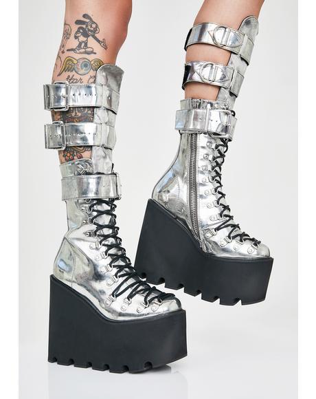 Metallic Guardian Boots