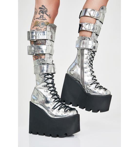 Current Mood Metallic Guardian Boots