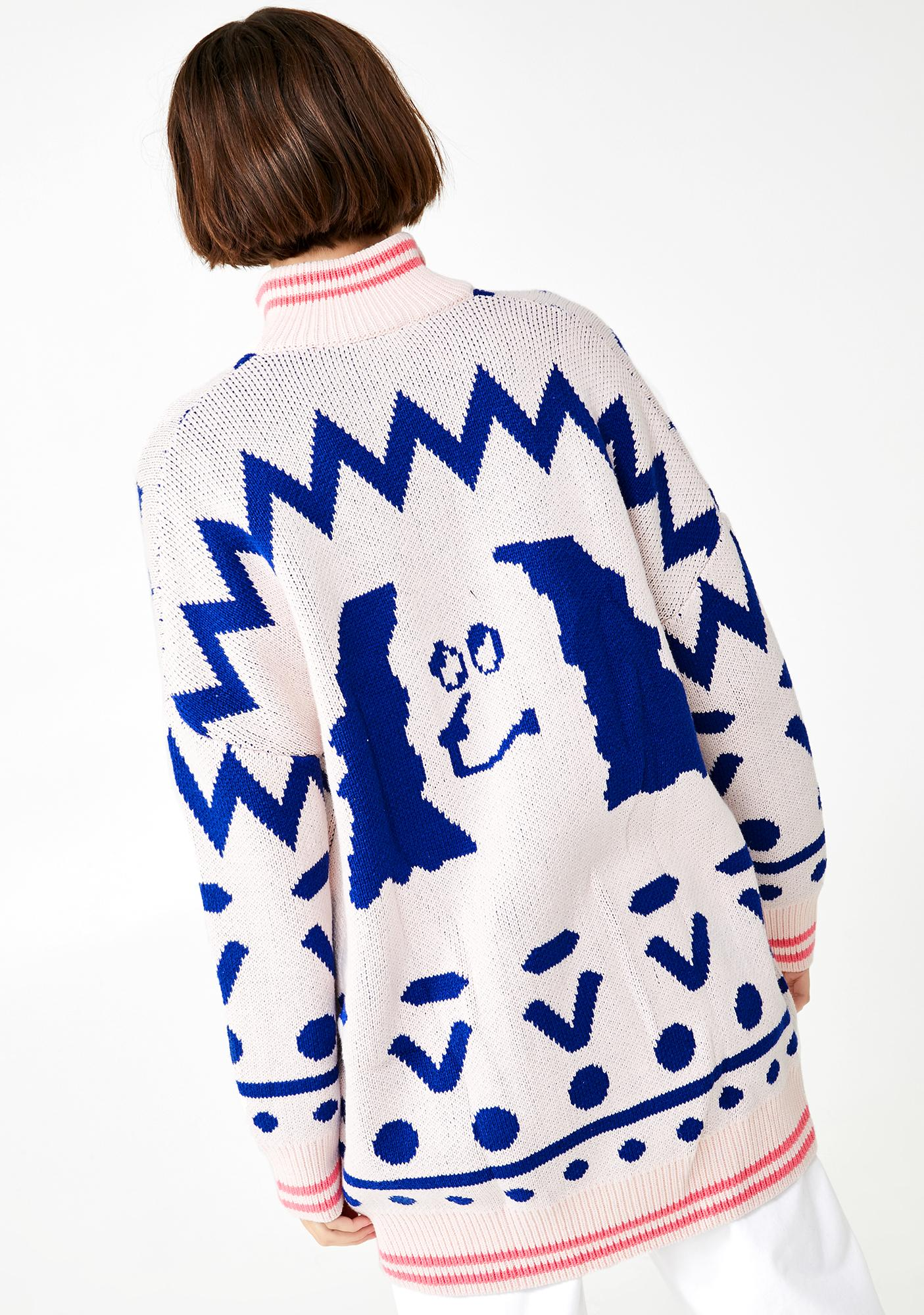 Lazy Oaf Zip Up Doggy Cardigan