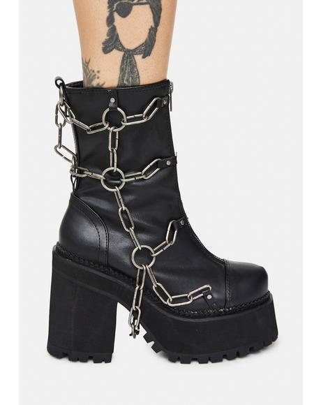 Rattle My Chains Platform Boots