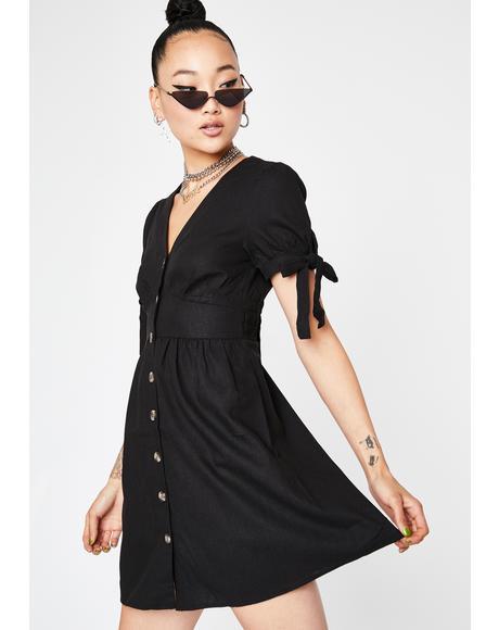 Dark Forever Classy Mini Dress