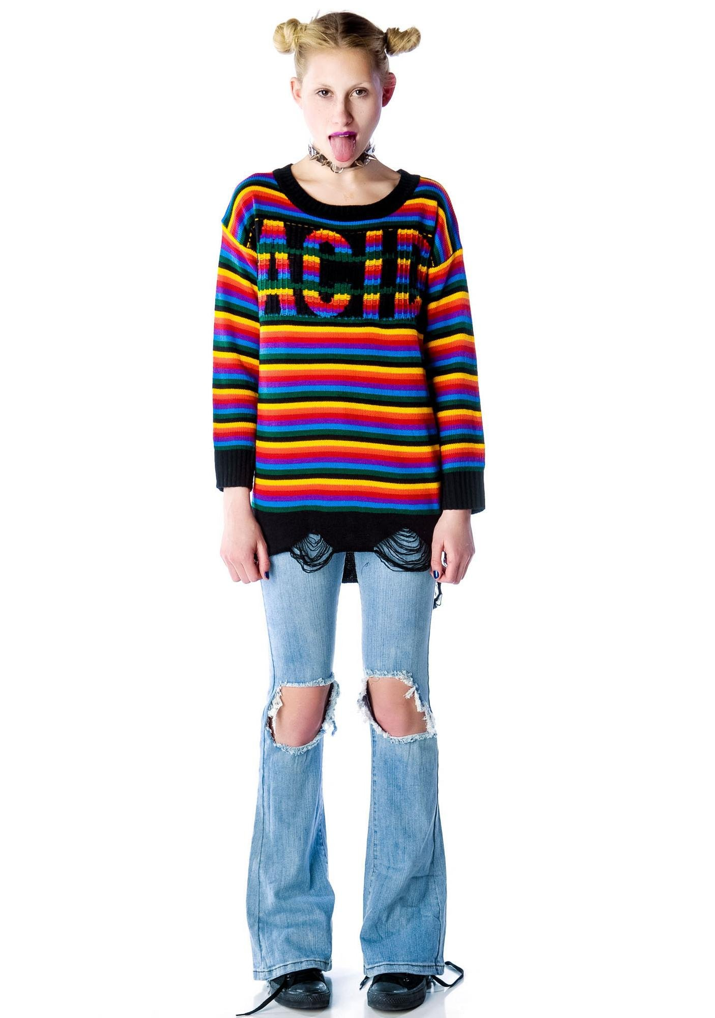 UNIF Acid Sweater