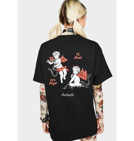 Last Call Co. Devil Angel Graphic Tee