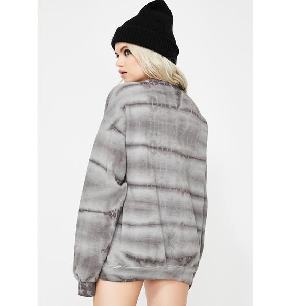 BROKEN PROMISES CO Feels Tie Dye Sweater