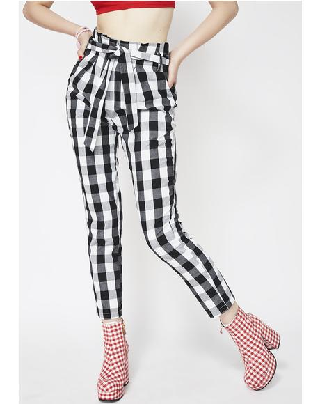 Blind Date Gingham Pants