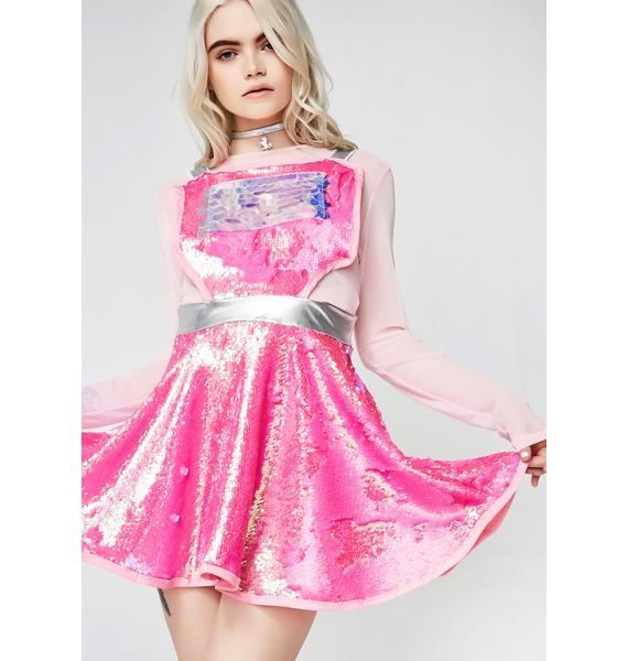 Cosmic Unicornz Pink Sequin Dress