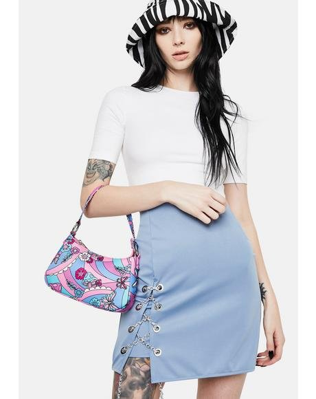 Chain Tie Lake Blue Skirt