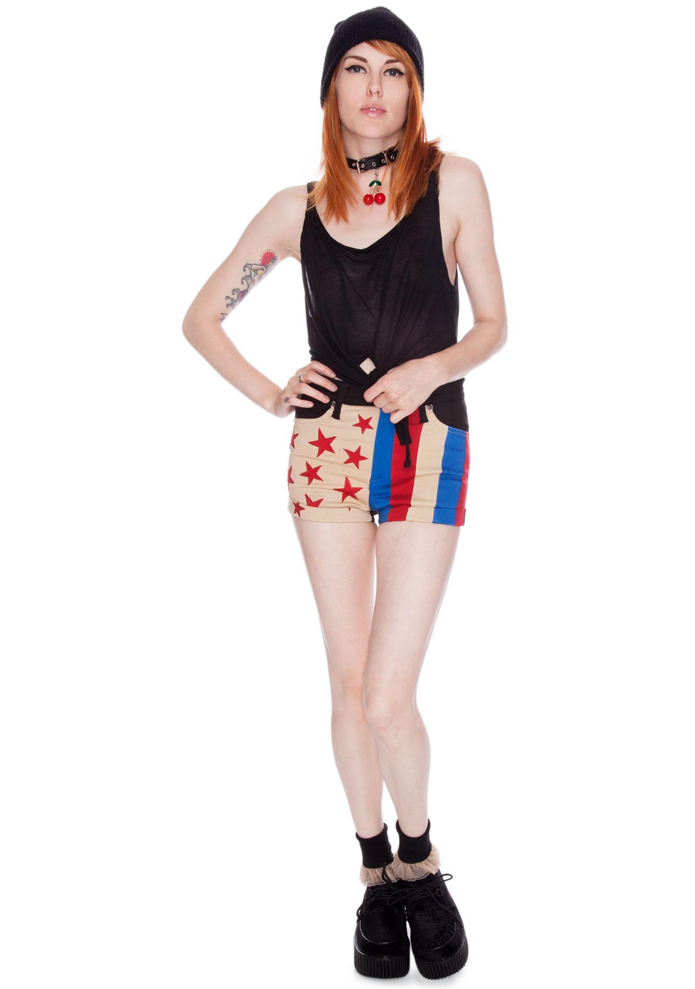 Tripp NYC Retro Flag Shorts