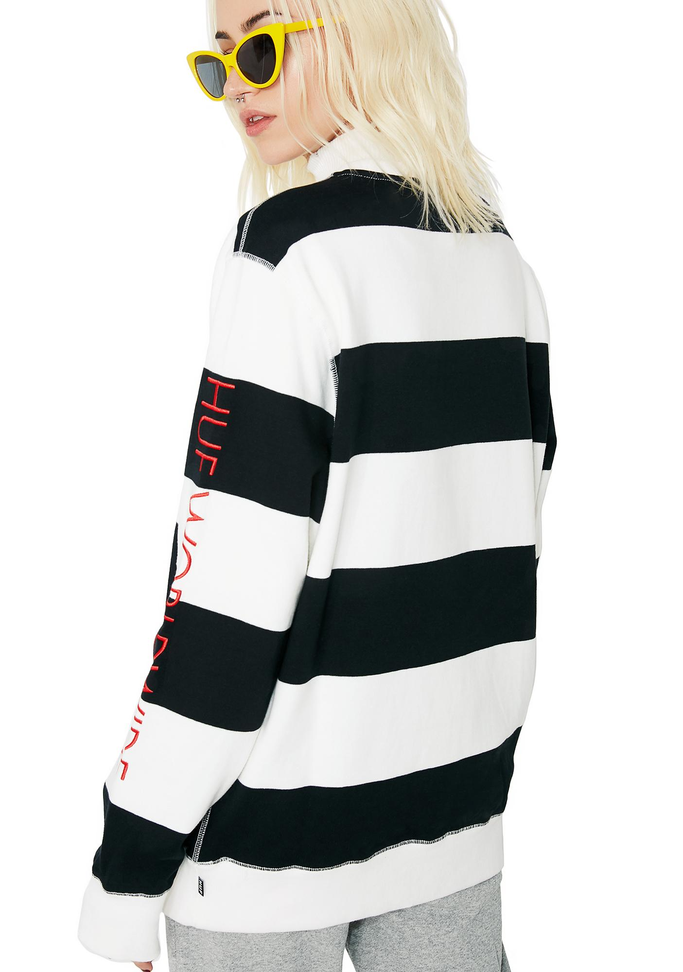 HUF Catalina Stripe Crew Fleece
