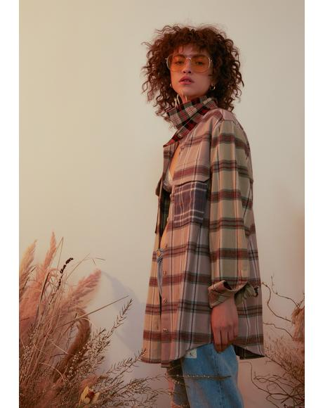 Beau Peep Oversized Flannel Shirt